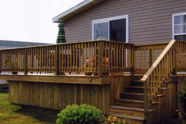 Steves manufactured home service center custom built decks - Mobile home deck designs ...